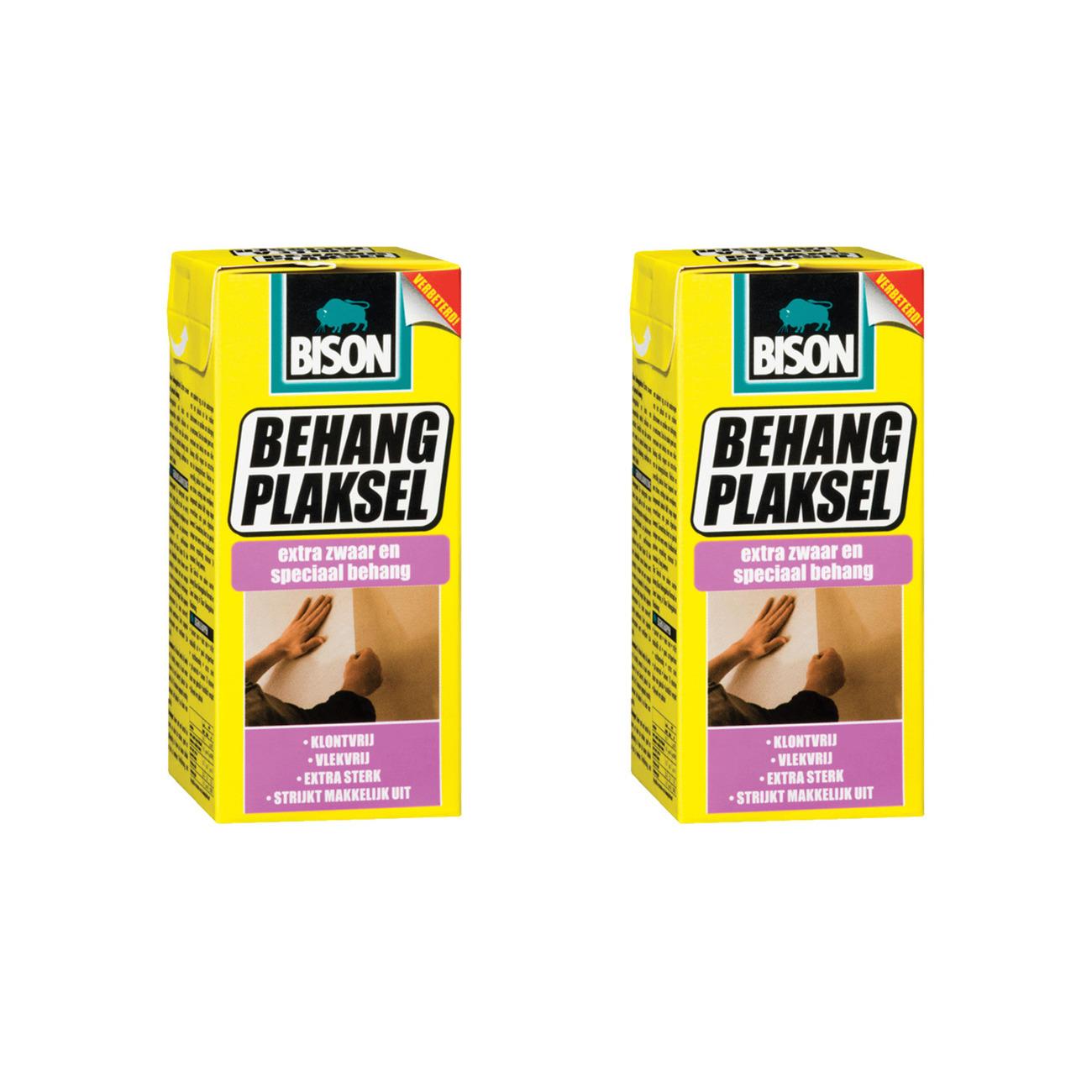 2x pakken Bison behanglijm voor zwaar en speciaal behang 200 gram