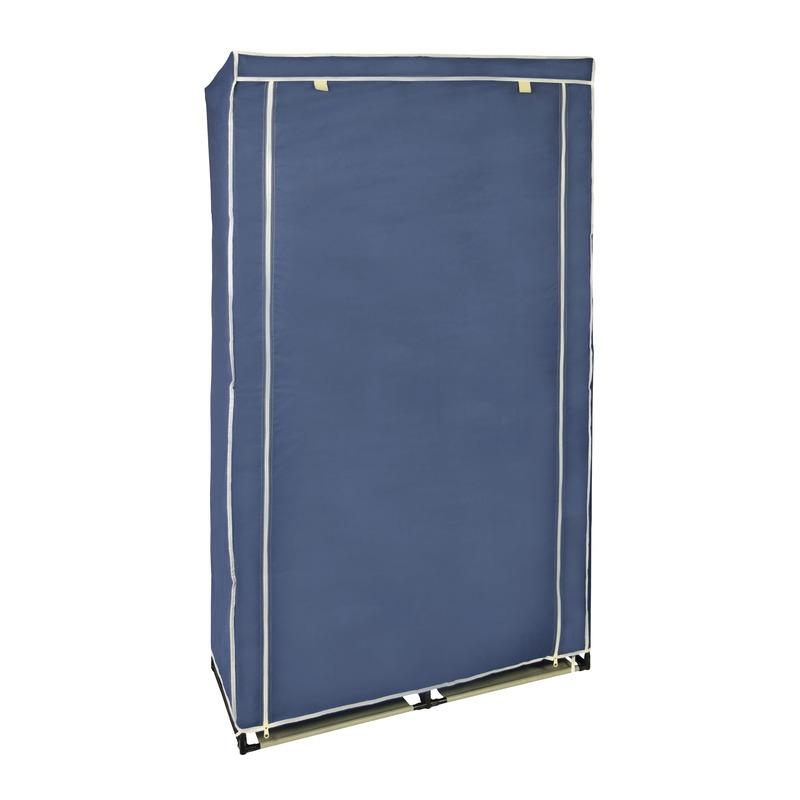 2x stuks tijdelijke kledingkast-garderobekasten blauw met rits 169 cm
