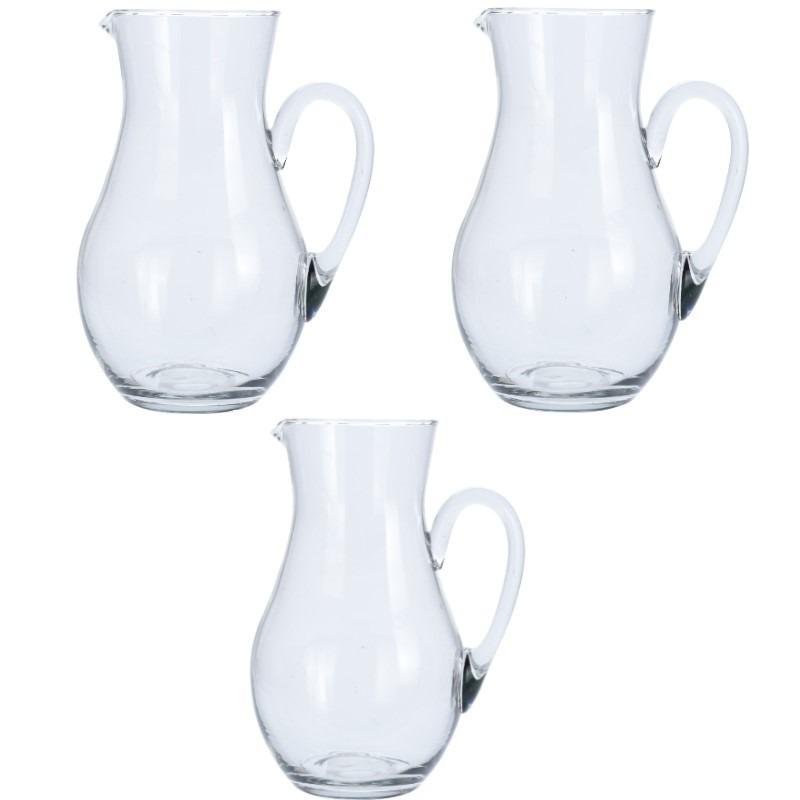 3x Glazen schenkkan van 1,5 liter