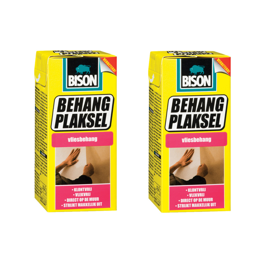 3x pakken Bison behanglijm voor vliesbehang 200 gram