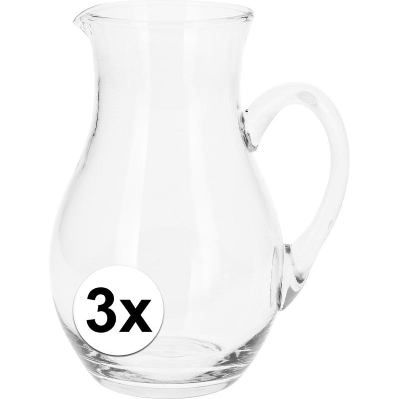 3x stuks Limonade-Water schenkkan 1 liter