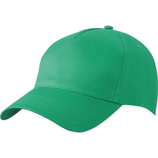 5 panel baseball cap groen dames en heren
