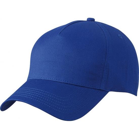 5 panel baseball cap kobalt blauw dames en heren