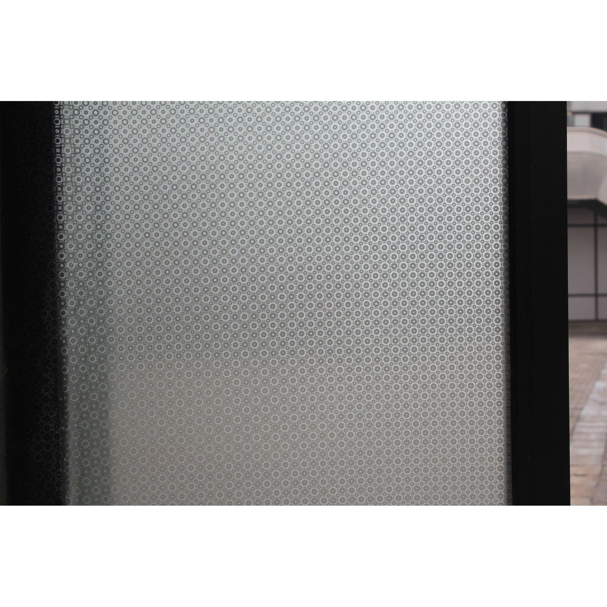 5x rollen raamfolie rondjes semi transparant 45 cm x 2 meter statisch