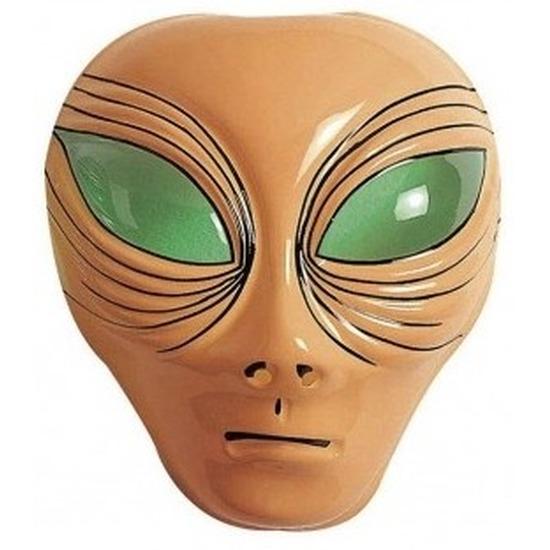 Alien gezichtsmasker bruin voor volwassenen
