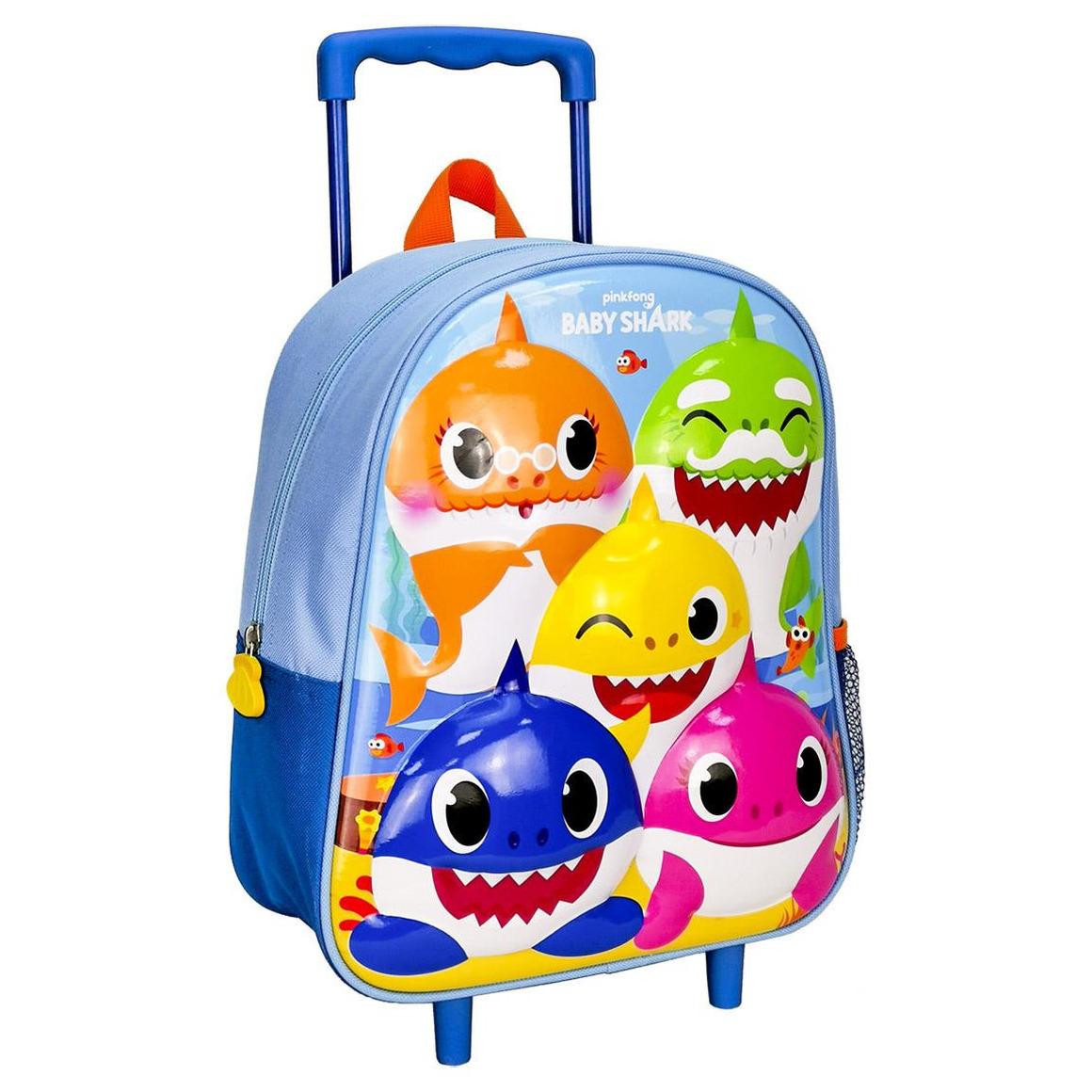 Baby Shark handbagage koffer-weekendtas voor jongens-meisjes-kinderen
