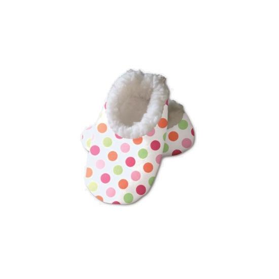 Baby slofjes met gekleurde stipjes