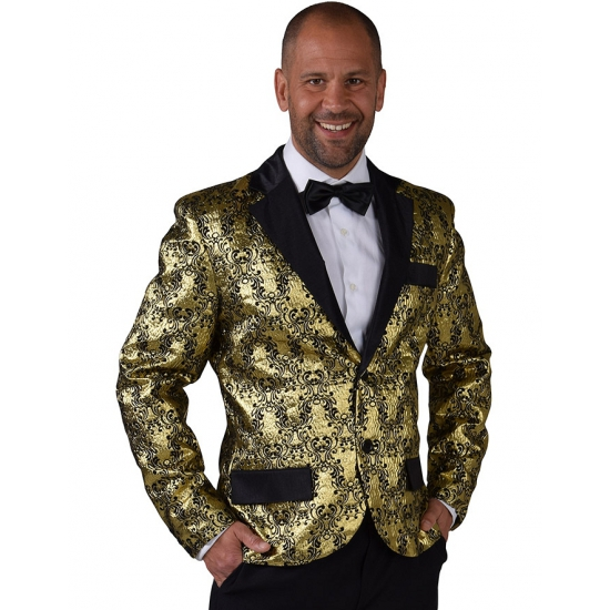 Barok colbert jasje goud voor heren