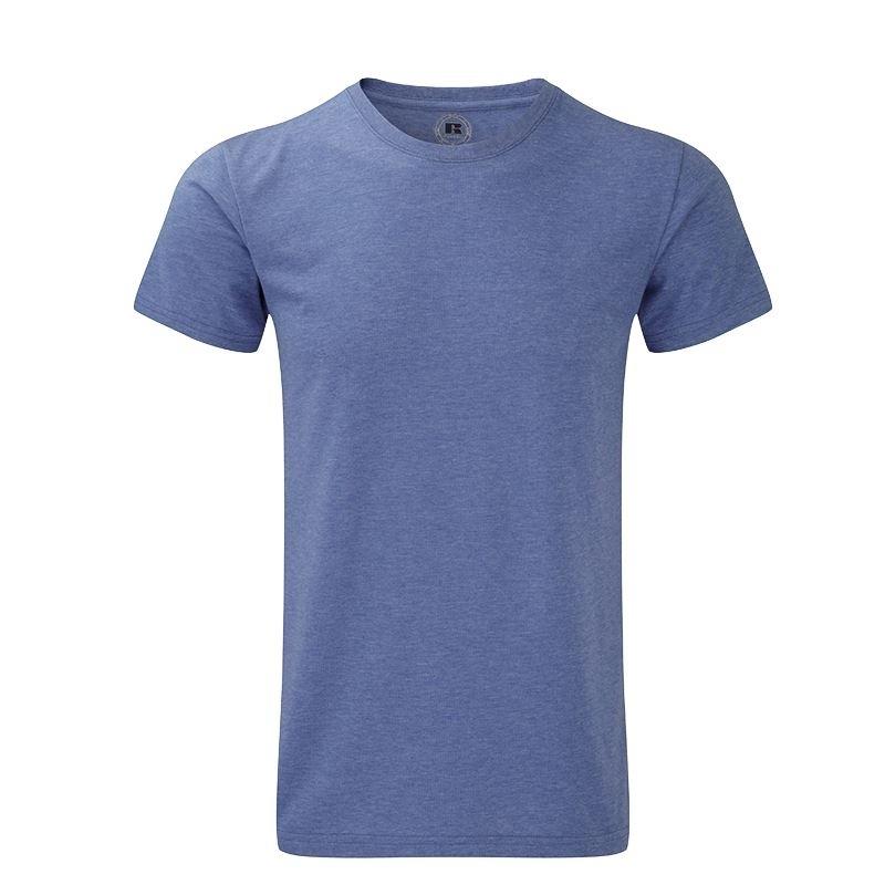 Blauw basic shirt met ronde hals voor heren