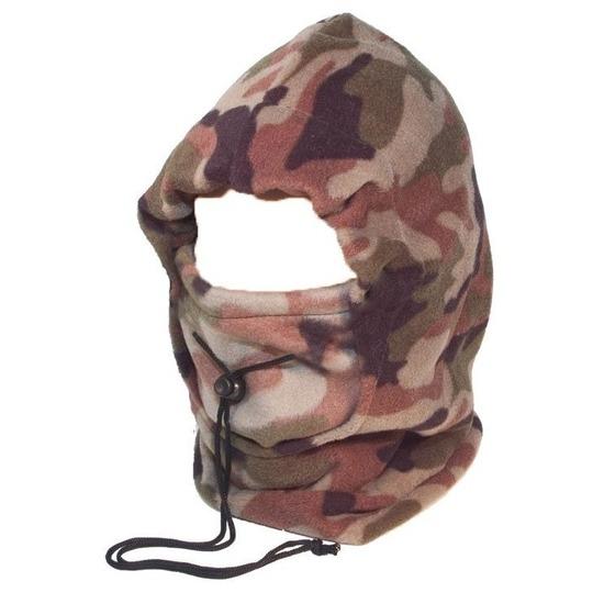 Camouflage bivak muts