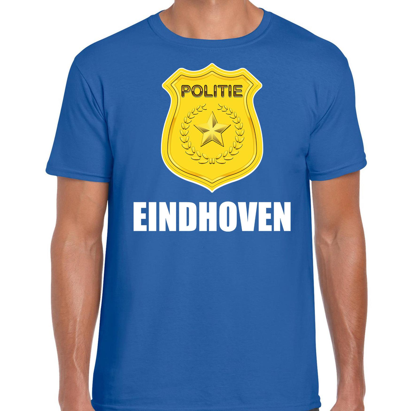 Carnaval shirt-outfit Eindhoven politie embleem blauw voor heren