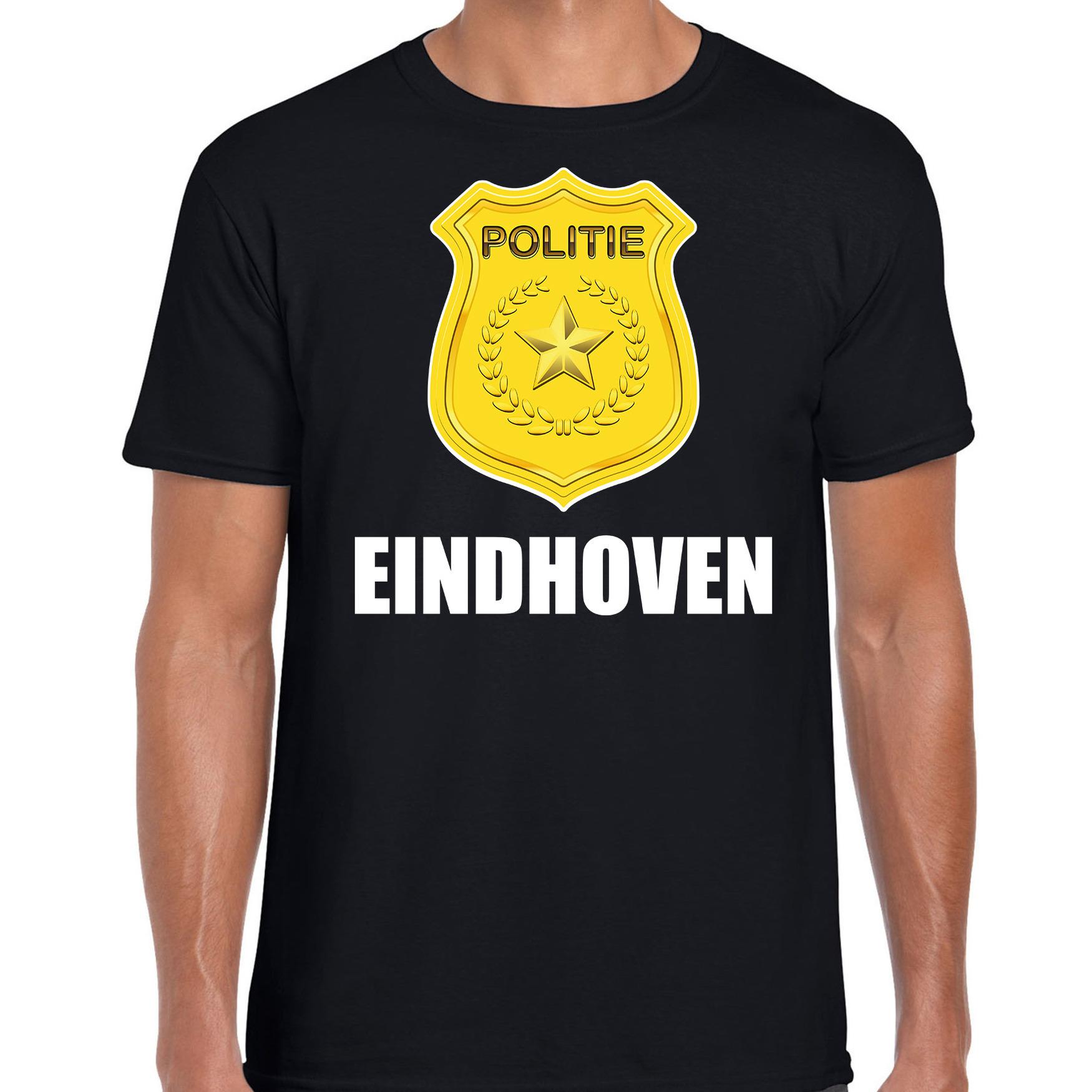 Carnaval shirt-outfit Eindhoven politie embleem zwart voor heren