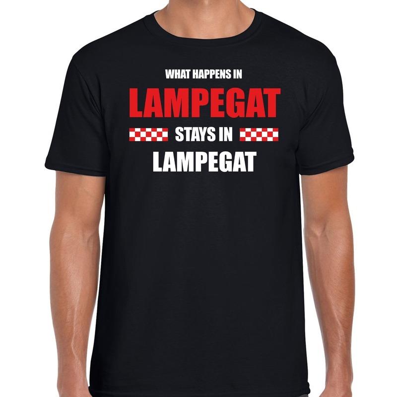 Carnaval verkleed shirt Lampegat-Brabant-Eindhoven zwart voor heren