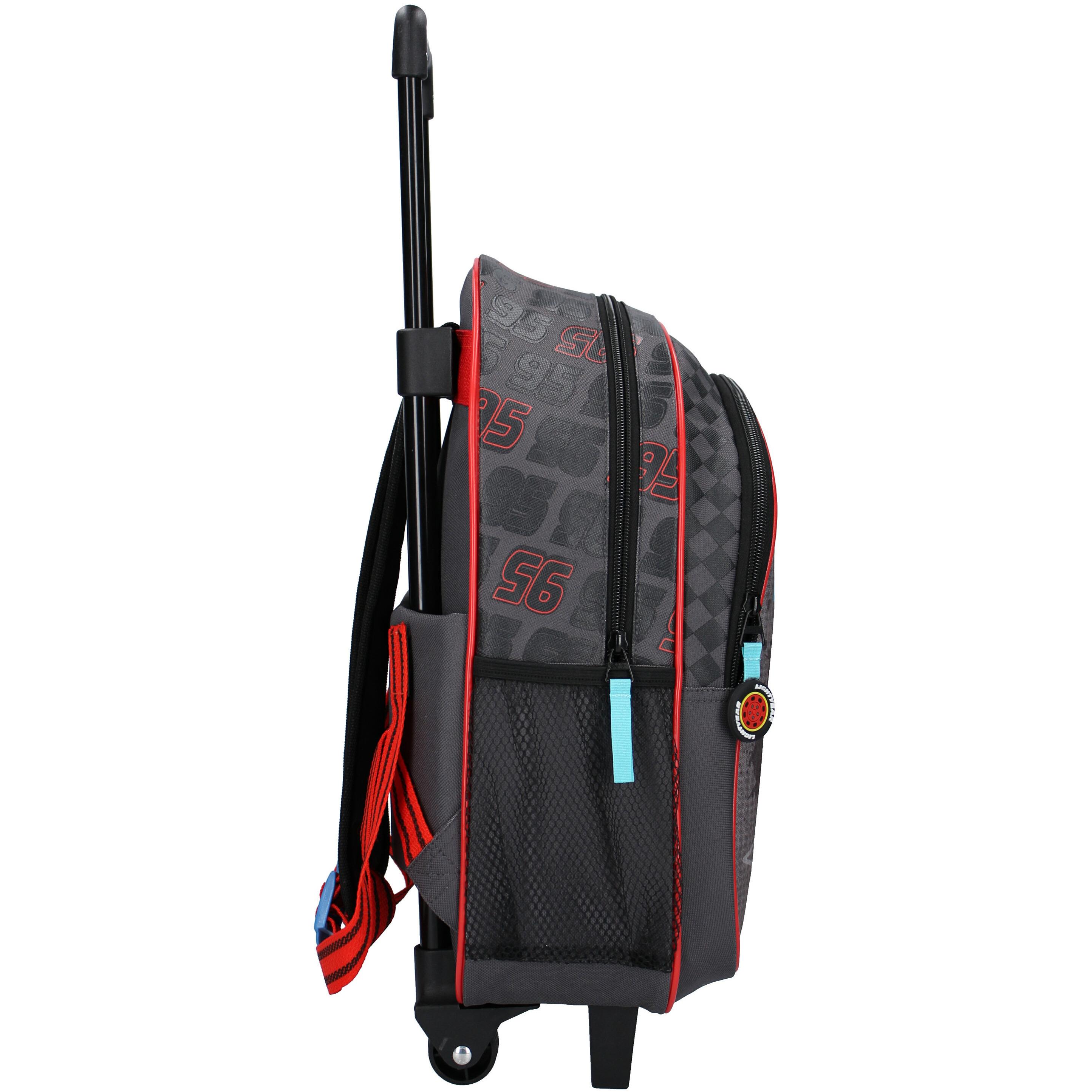 Cars Bliksem McQueen zwarte handbagage koffer-weekendtas voor jongens-meisjes-kinderen