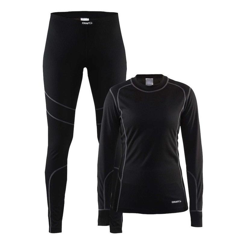 Craft thermo hardloop ondergoed set zwart voor dames