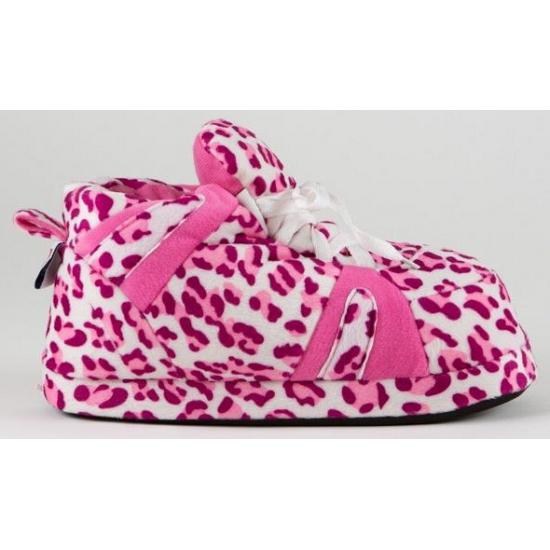 Dames sportschoen pantoffels luipaard roze