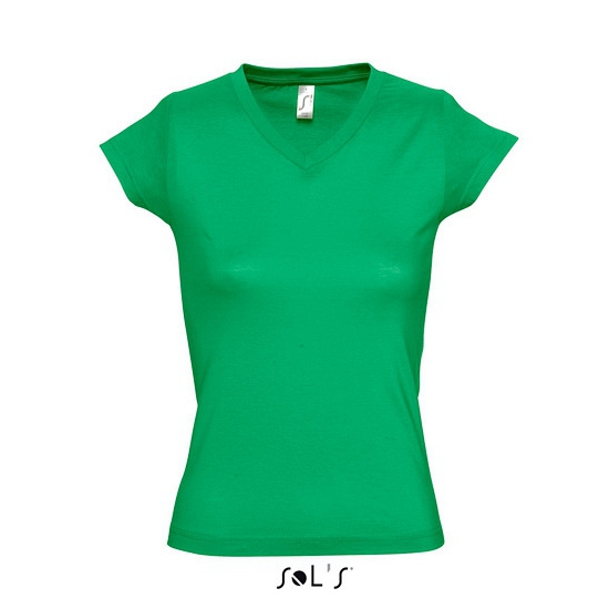 Dames t-shirts korte mouw grasgroen