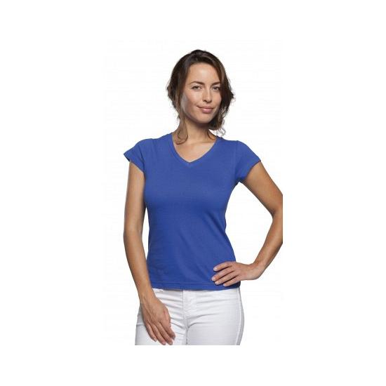 Dames t-shirts korte mouw kobalt blauw