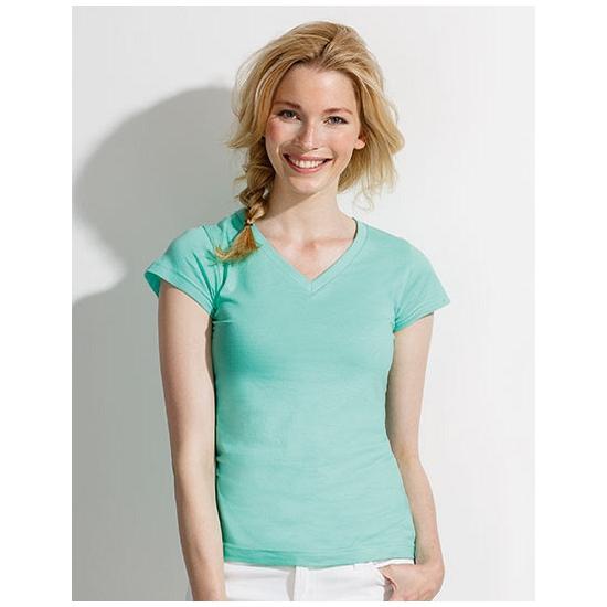 Dames t-shirts korte mouw mint groen