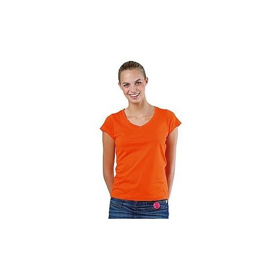 Dames t-shirts korte mouw oranje