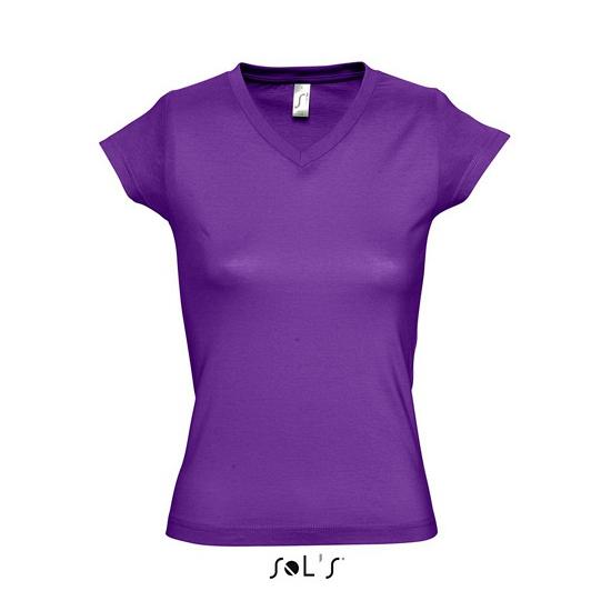 Dames t-shirts korte mouw paars