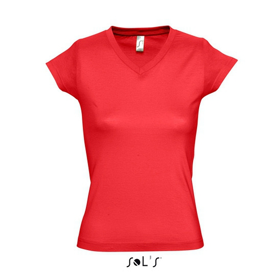 Dames t-shirts korte mouw rood