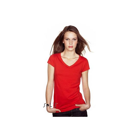 Dames t-shirts korte mouw rood