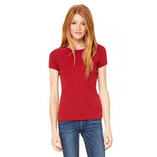 Dames t-shirts ronde hals Hanna donkerrood