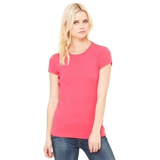 Dames t-shirts ronde hals Hanna fuchsia