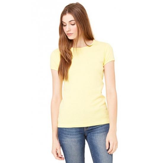 Dames t-shirts ronde hals Hanna geel