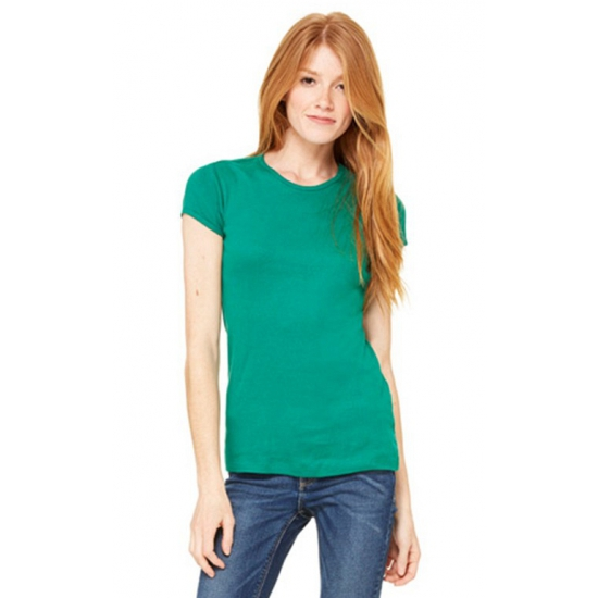 Dames t-shirts ronde hals Hanna grasgroen