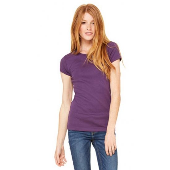 Dames t-shirts ronde hals Hanna paars