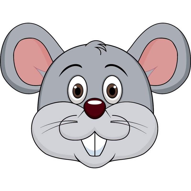 Dieren masker muis voor kids