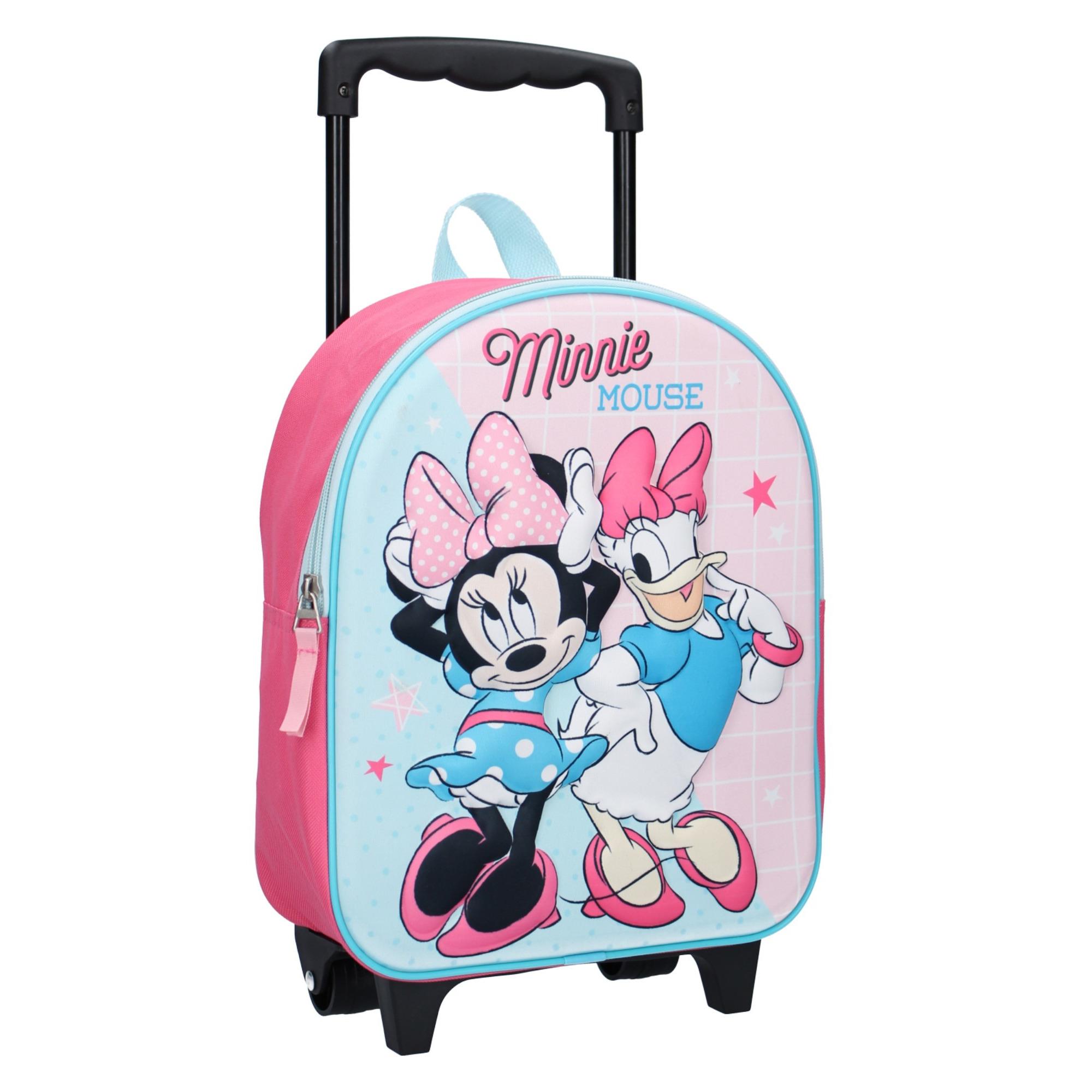 Disney Minnie mouse koffer op wieltjes roze 31 cm voor kinderen