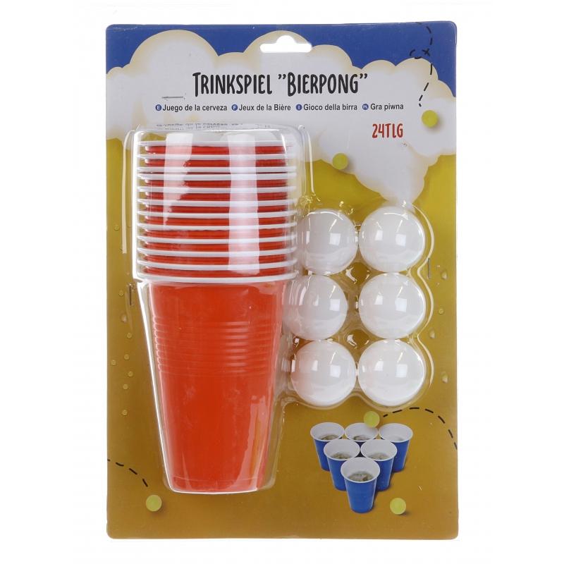 Drinkspel Beer Pong set 24 delig
