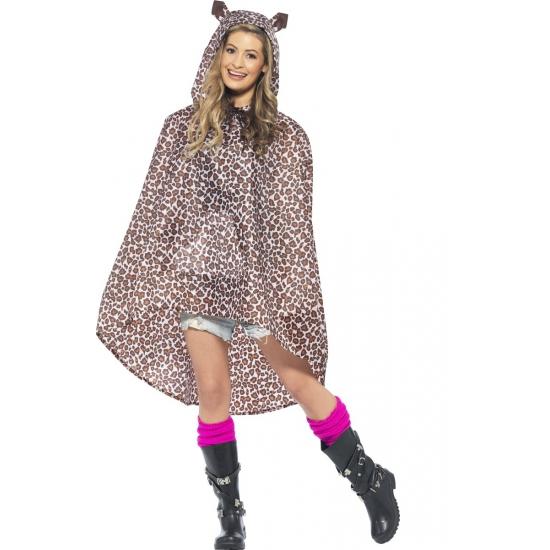 Festival regenponcho luipaard
