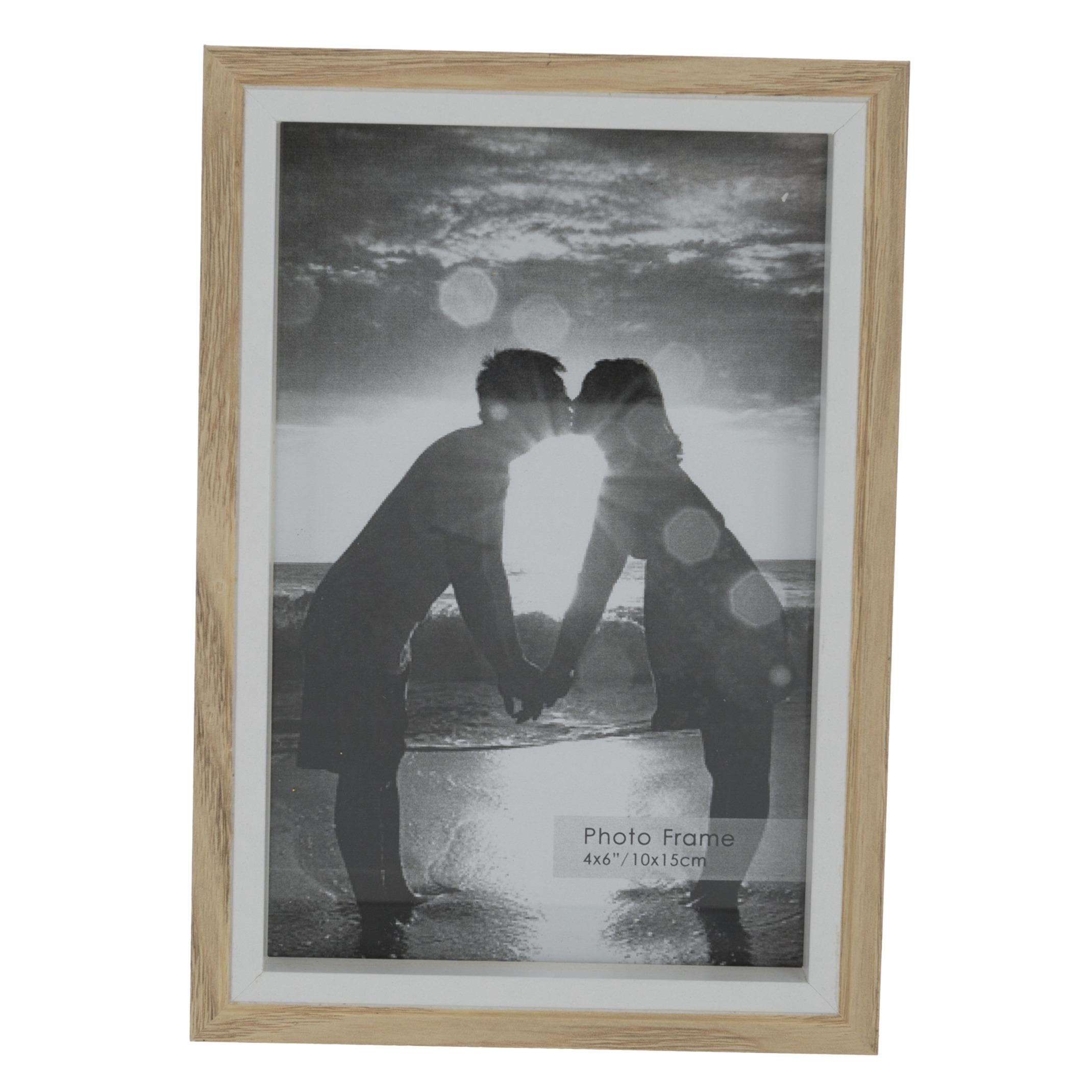 Fotolijstje naturel 17 x 12 cm geschikt voor een foto van 15 x 10 cm