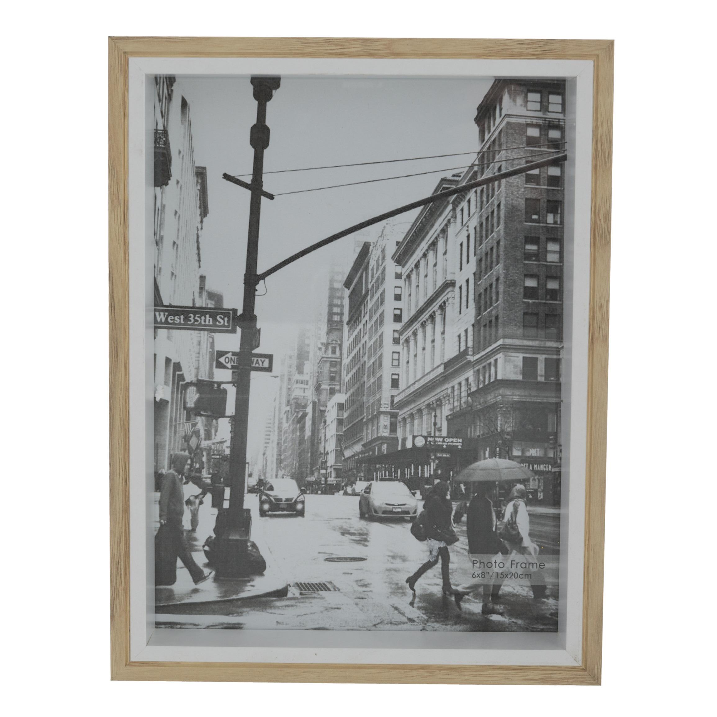 Fotolijstje naturel 22 x 17 cm geschikt voor een foto van 20 x 15 cm