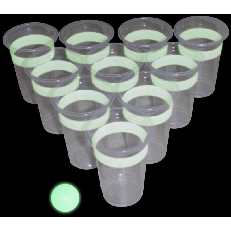 Glow in the dark beerpong drankspel-drinkspel
