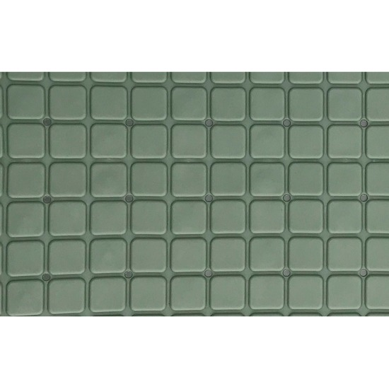 Groene bad-douchemat anti-slip 69 x 39 cm