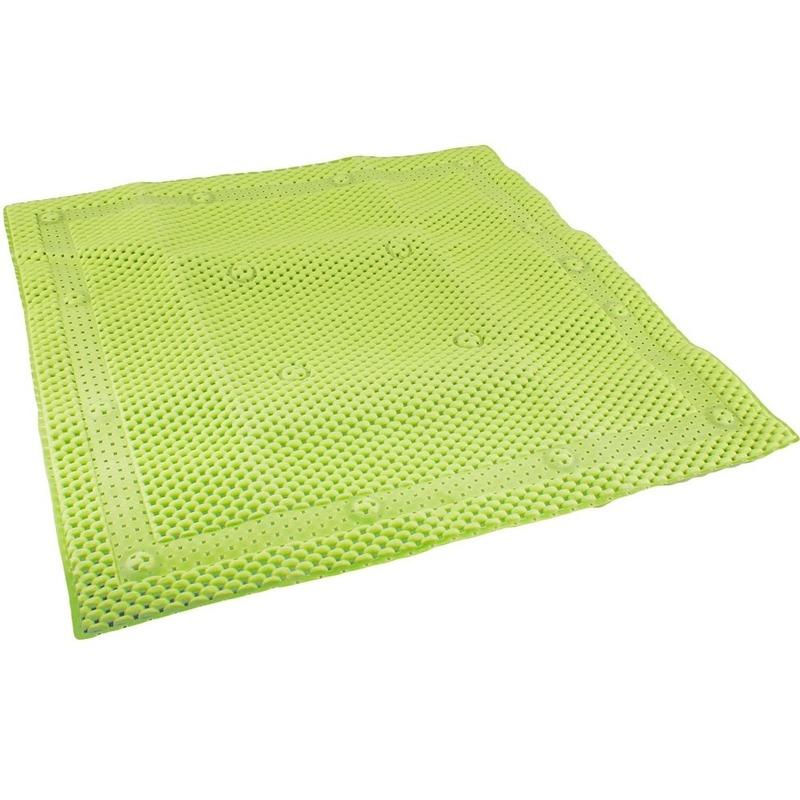 Groene douchemat anti-slip 52 x 52 cm