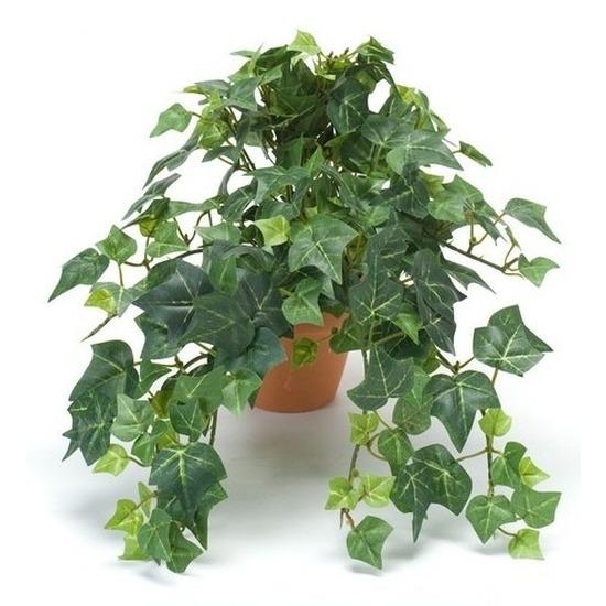 Groene kunstplant klimop plant in pot