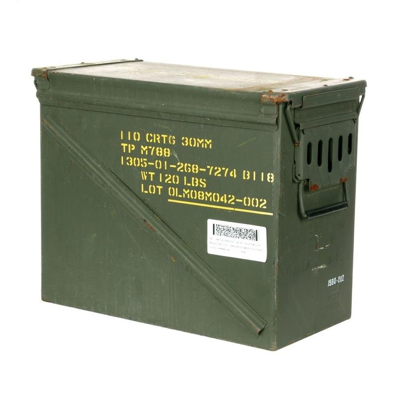 Groene munitiekist van metaal 48 cm