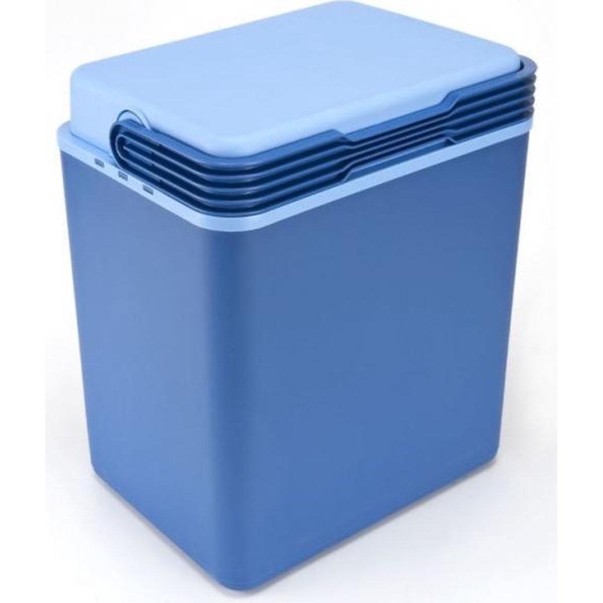 Grote koelbox donkerblauw 32 liter 40 x 30 x 45 cm