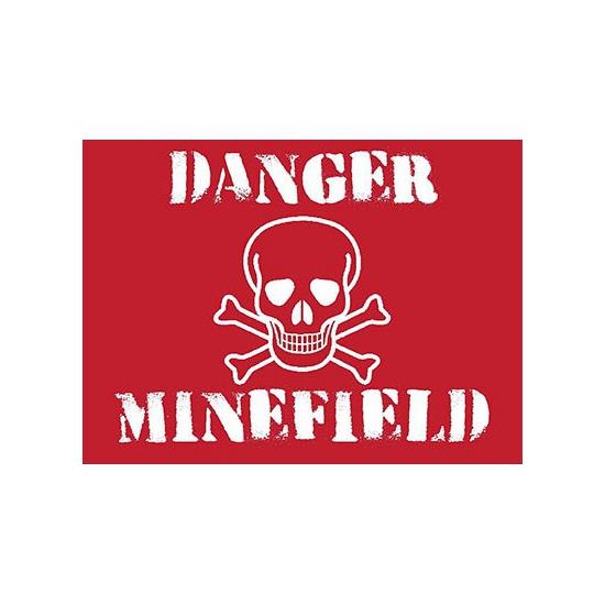 Grote muurplaat Minefield 30x40cm