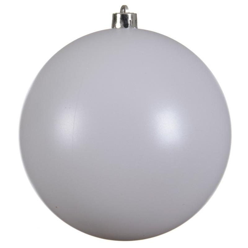Grote raam-deur-kerstboom decoratie winter witte kerstballen 20 cm mat