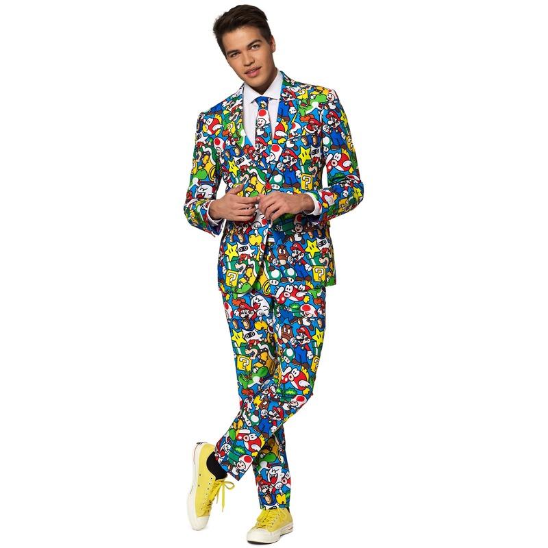 Heren verkleedkostuum Super Mario business suit