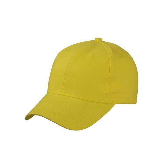 Katoenen baseball caps geel