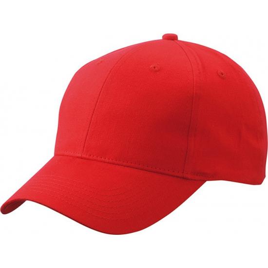 Katoenen baseball caps rood
