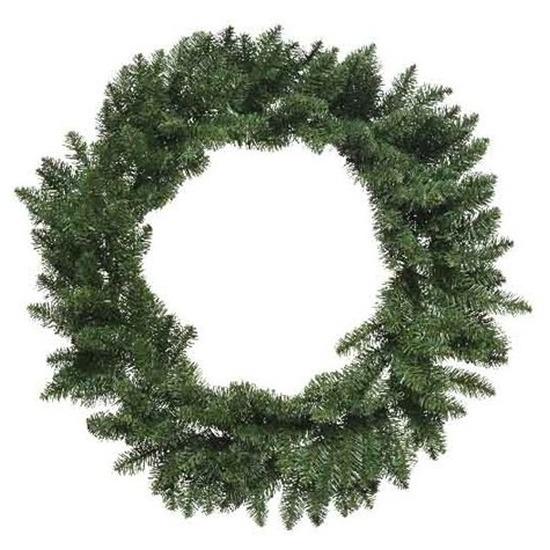 Kerst krans groen 80 cm dennenkransen versiering-decoratie